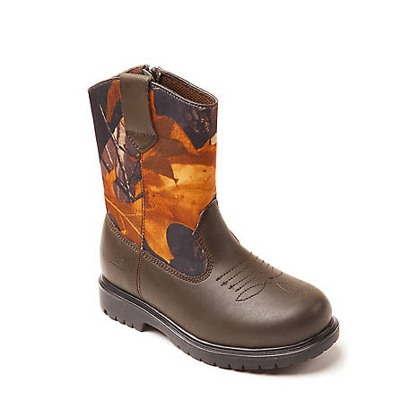 Deer Stags Boy's Tour Pull On Boot Camouflage, TOUR-HTEC