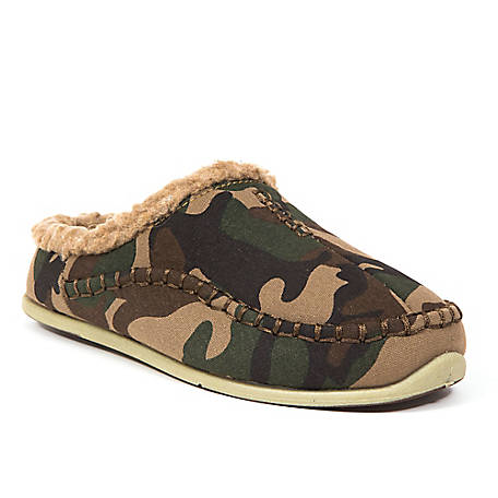 Deer Stags Boys Lil Nordic Slipper Camouflage, LILNRD-CNVS-CAMO-M-11