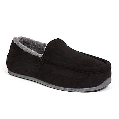 Deer Stags Boys Lil Spun Slipper, LILSPN-MCSD-BLK-M-11