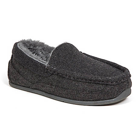 Deer Stags Boys Lil Spun Slipper, LILSPN-TXFT-DGRY-M-11