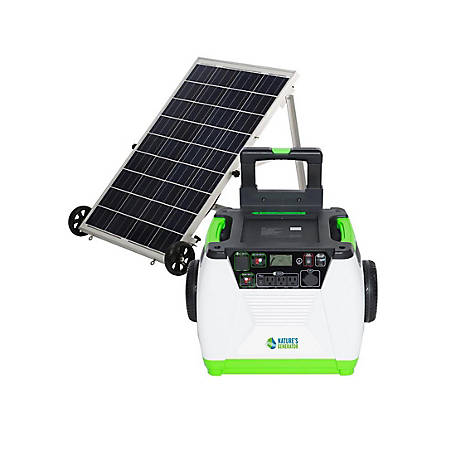 Nature's Generator Gold System - Includes 1 Generator and 1 Solar Panel, GXNGAU