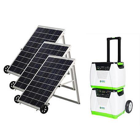 Nature's Generator Platinum System - Includes 1 Generator, 1 Power Pod, & 3 Solar Panels, GXNGPT