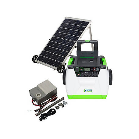 Nature's Generator Gold PE System - Includes 1 Generator, 1 Solar Panel, 1 Power Transfer Kit, HKNGAUPE