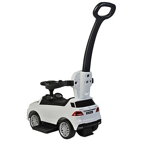 Best Ride On Cars Mercedes Push Car, White, MERCEDES PUSH CAR WHIT