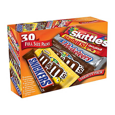 M&M's Mars One Stop 30 ct. Variety Pack, 220-00084
