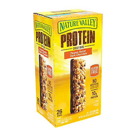 NATURE VALLEY Protein Chewy Granola Bars, 220-00451