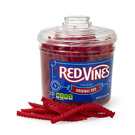 Red Vines Red Licorice Twists Jar Original Red 3.5 lb. Jar, 209-06016