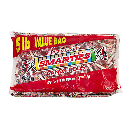 Smarties Wrapped 5 Lb 209-00009, 209-00009