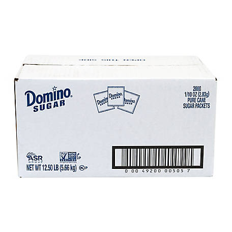 Domino Sugar Packets, 2000 ct., 220-00501