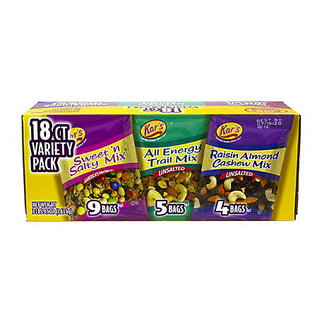 Kar's Nuts Trail Mix Variety Pack, 18 ct., 288-00004
