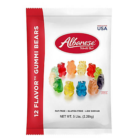Albanese Confectionery 12 Flavor Assorted Gourmet Gummi Bears, 206-00001