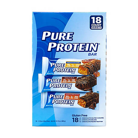 PURE PROTEIN Bars Variety Pack 176 oz. 18 ct., 220-00545