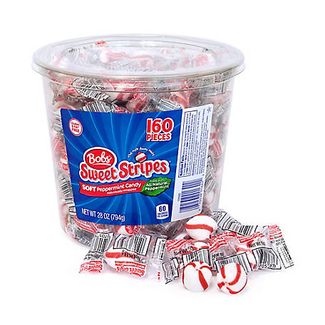 Bob's Sweet Stripes Soft Peppermint Candy, 209-02493