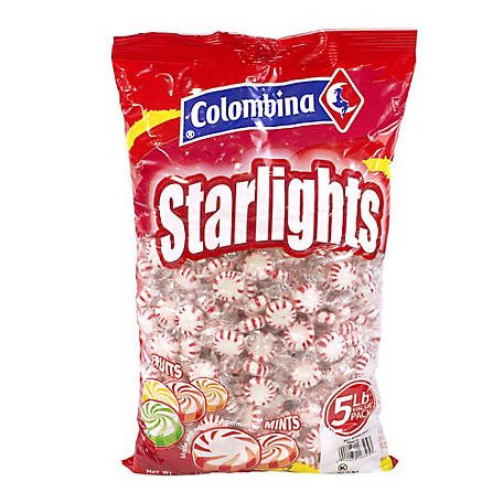 Colombina Peppermint Starlight Mints, 5 lb., 269-00012