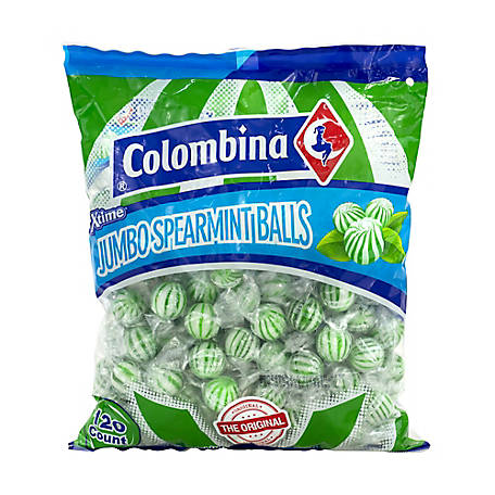 Colombina Jumbo Spearmint Balls 120 ct., 209-00022