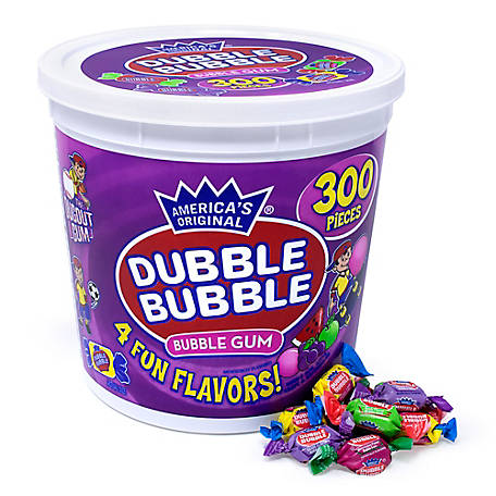 Dubble Bubble Assorted 4Flavor Twist Tub, 220-00223