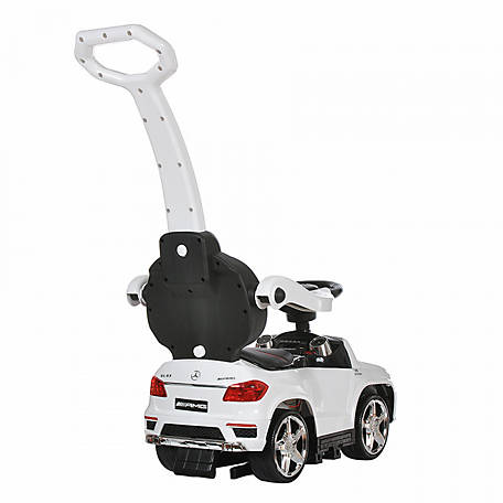 Best Ride On Cars 4-in-1 Mercedes Push Car, White, 4 IN 1 MERCEDES PC WHI