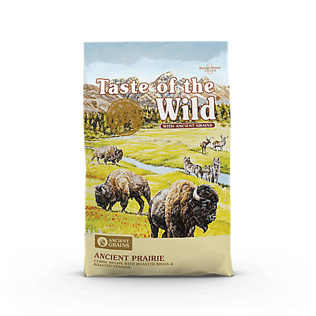 Taste of the Wild Ancient Prairie Canine Recipe with Roasted Bison, Roasted Venison and Ancient Grains, 28 lb.