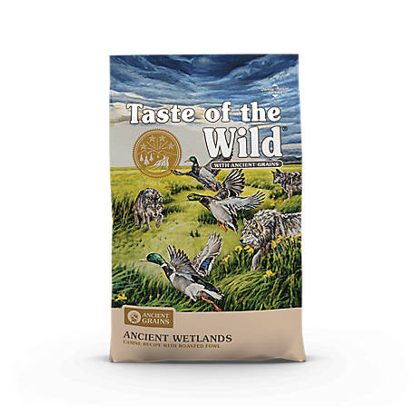 Taste of the Wild Ancient Wetlands Canine Recipe with Roasted Fowl and Ancient Grains, 28 lb.