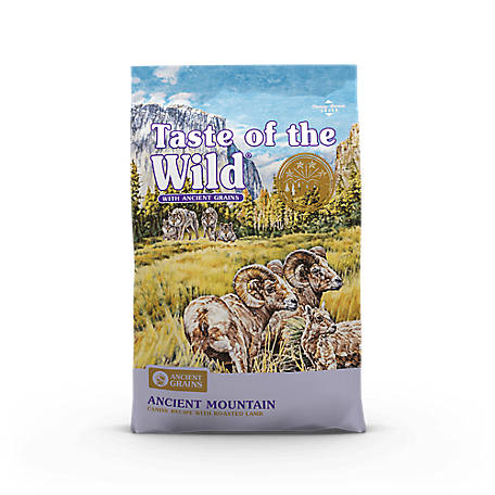 Taste of the Wild Ancient Mountain Canine Recipe with Roasted Lamb and Ancient Grains, 5 lb.