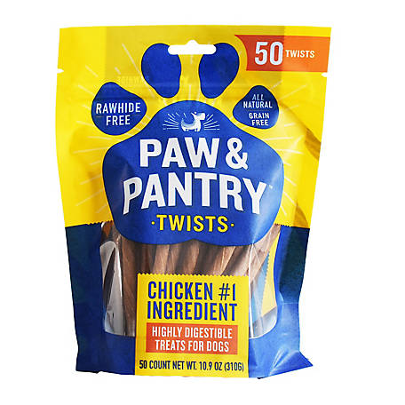Paw & Pantry Chicken Twist 50 ct. PP100, 50 Count / 10.9 oz. (310 g)