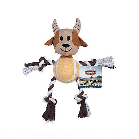 MuttNation Fueled by Miranda Lambert Goat Tennis Ball Rope Toy, 1229