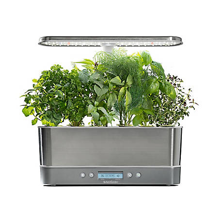 AeroGarden Harvest Elite Slim, Stainless, 901124-1200