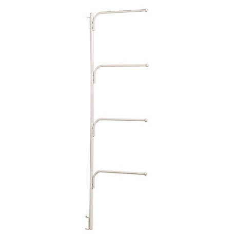 HINGE-IT Clutterbuster Family Towel Bar White, H12001
