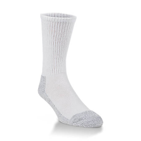 Mossy Oak Working Crew Sock, White, L 73021