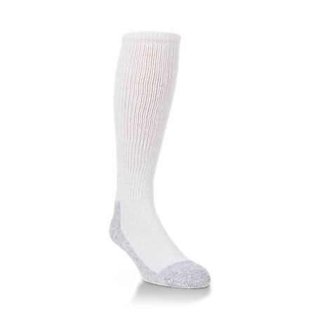 Mossy Oak Working Boot Sock, White, L
