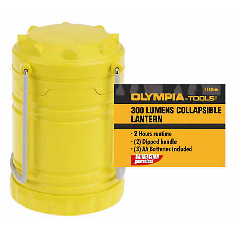 Olympia 300Lm Camping Lantern, Yellow, 703-300-101