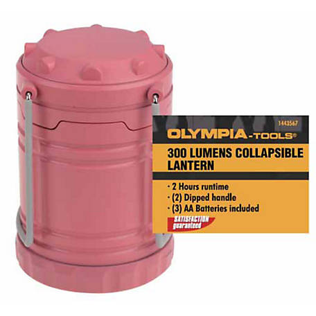 Olympia 300Lm Camping Lantern, Coral, 703-301-101