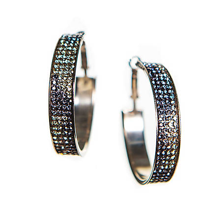 Buddy G's Camo Hoop Pierced Earrings, 35422