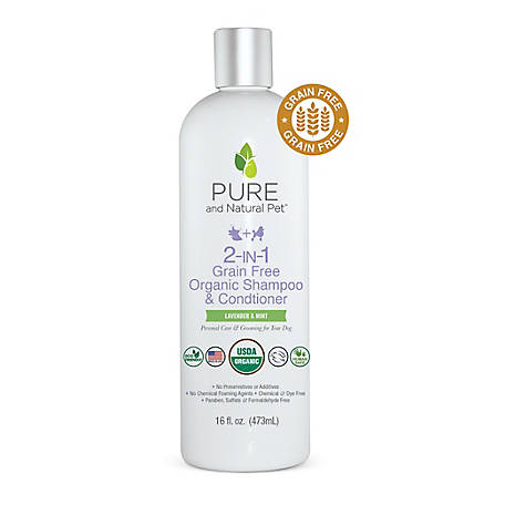 Pure and Natural Pet 2-In-1 Grain Free Organic Shampoo & Conditioner, PN260