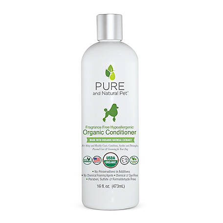 Pure and Natural Pet Fragrance Free Hypoallergenic Organic Conditioner, PN235