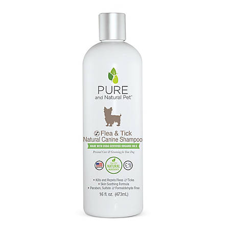 Pure and Natural Pet Flea & Tick Natural Canine Shampoo, PN236