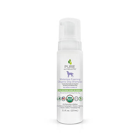 Pure and Natural Pet Waterless Foaming Organic Dog Shampoo, PN250