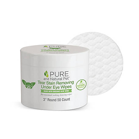 Pure and Natural Pet Tear Stain Removing Under Eye Wipes, PN229