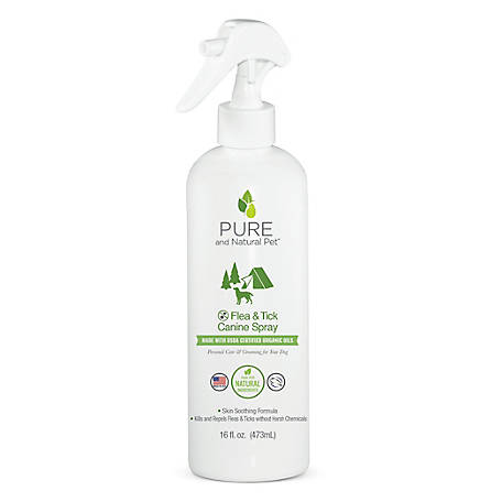 Pure and Natural Pet Flea and Tick Canine Spray, PN252