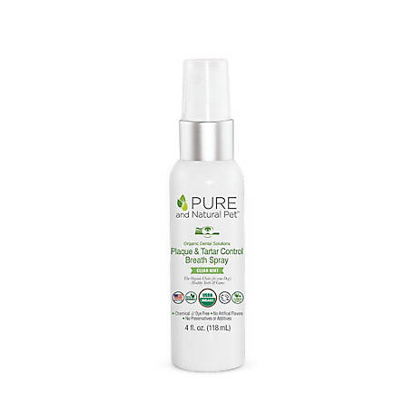 Pure and Natural Pet Organic Dental Solutions Plaque & Tarter Control Breath Spray, PN805