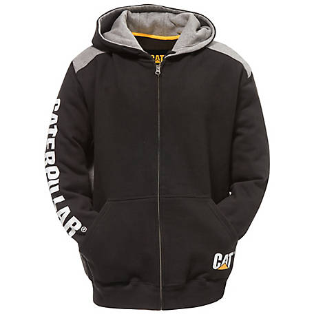 Caterpillar Men's Logo Panel Zip Sweatshirt, 1910803