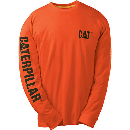 Caterpillar Men's Tm Banner Long Sleeve Tee Shirt, 1510034