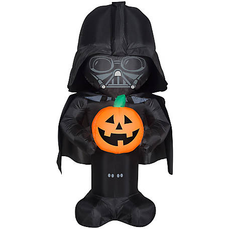 Gemmy Airblown-Stylized Darth Vader with Pumpkin, G-222950