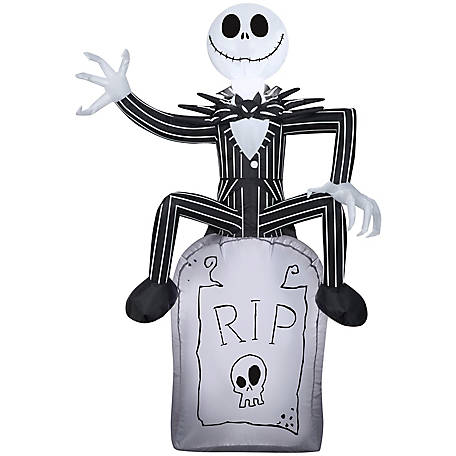Gemmy Airblown-Jack Skellington On Tombstone, G-74039