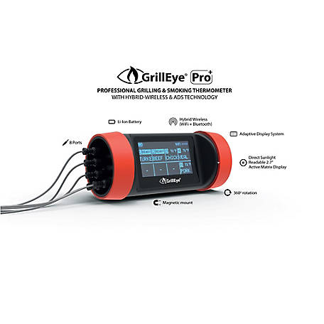 GrillEye Pro Plus Wi-Fi Grilling Thermometer, GE0003