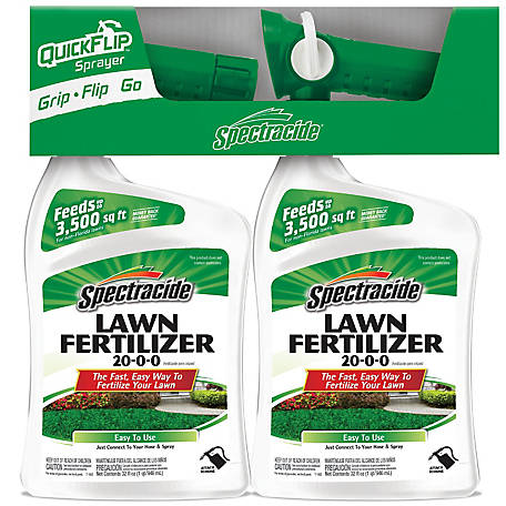 Spectracide Spectracide Lawn Fertilizer 20-0-0, 32 oz., Twin Pack, Hose End Concentrate, HG-26714
