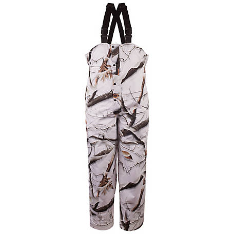 Huntworth Men's Snow Camo Microfiber Bib Pants, E-81705-SCB