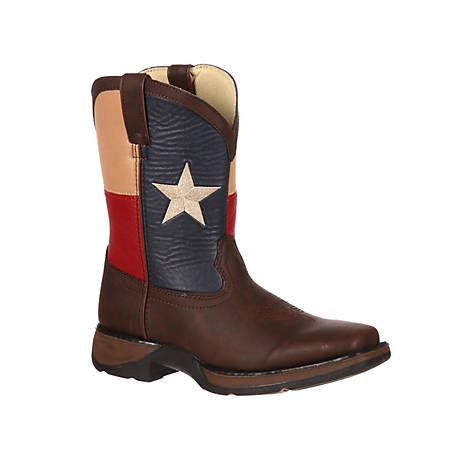 Durango Unisex Kids Brown TX Flag Lil Rebel, BT246