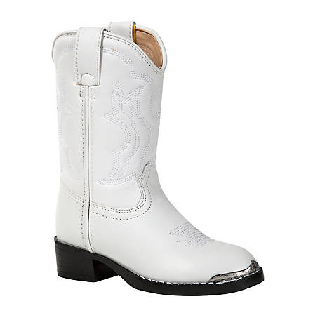 Durango Girls' Kids Lil Durango White Western Boot, BT851