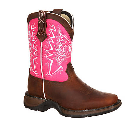 Durango Girls' Kids Brown & Pink Lil Rebel, DWBT092